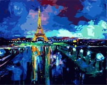 diy painting by numbers city landscape paris 2015 new hot photo GX7152