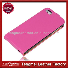 Pink Genuine Leather Girls Case Flip Cover Full Holder For iPhone5 5S,Super Quality Oem Case For iPhone 5 5S Case