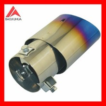 exhaust titanium muffler 89mm length polish tail part in blue