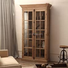 OA-4004 Oak Furniture Antique Bookcase with doors