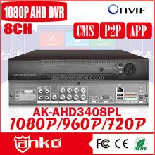 """WIN8"" GUI CCTV 1080P 8ch ahd dvr with free P2P/APP/CMS"