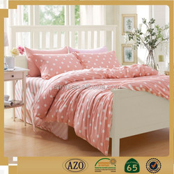 Pink dot design style plain dyed bedding sets and buy fabric from china