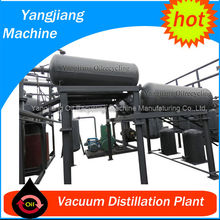 without Clay Used Mobile Oil Refinery with Vacuum Distillation