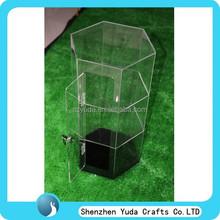 Espositore espositore da terra, vetrine chiaro stand, plexiglas perspex acrilico mostra display vetrina porta con chiave