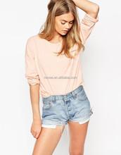 Fancy Girl Plain Long Sleeve T Shirt Women High Quality Plain T-Shirt Production 100% Cotton Custom Design T Shirt