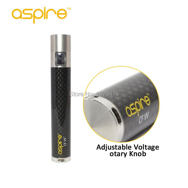 ถูก 1000มิลลิแอมป์ชั่วโมงEบุหรี่อาตมาแบตเตอรี่Aspire CF VV +บุหรี่อิเล็กทรอนิกส์แบตเตอรี่แบบชาร์จไฟแบตเตอรี่แรงดันไฟฟ้าตัวแปรจัดส่งฟรี