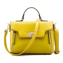China Fashion OL Marca dragon color exported leather handbag