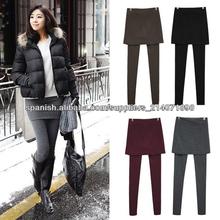 Falda Leggings Footless Tights plisado algodón 2013 ocasionales de Corea de las mujeres estira los pantalones largos 9314#