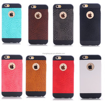 High Quality Armor Crocodile Leather Skin Silicone Phone Case For Apple Iphone 6 plus