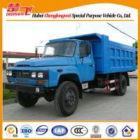 Dongfeng 140 tip head rear dump garbage truck mini truck dumper