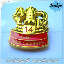 New product golden british military badges,military badges and insignias,military rank insignia badges