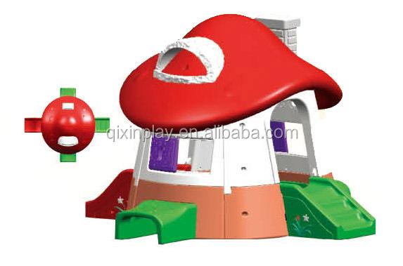 Enfants en plastique champignon jouer maison enfants for Film plastique anti uv pour serre de jardin