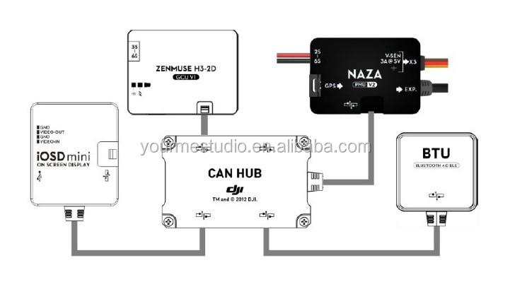dji naza v2 iosd mini   btu bluetooth module
