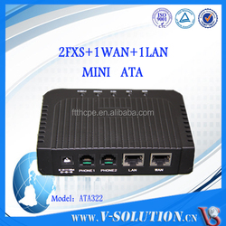 Support SIP and IMS SIP protocol Analog Telephone Adaptor VoIP ATA 2FXS Gateway VoIP
