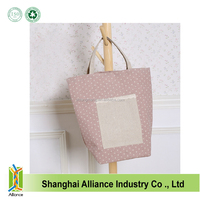 Professional Wholesale Eco-friendly Plank Cotton / Jute /Canvas Tote Bags with a front single pocket