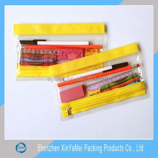 OEM fashion clear pvc zipper bag , pvc bag with ziplock