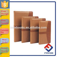 2015 printed pu leather cover pocket notebook with id card holders