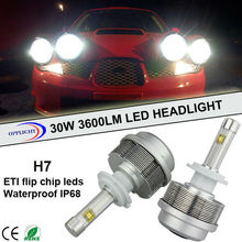 OPPLIGHT 2 years warranty led head light h7 with fli.p led chips head light