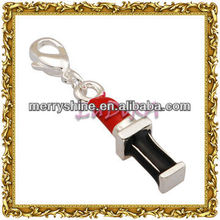 2013 Fashion Red Enamel Lipstick Silver Charms And Pendants-T332!