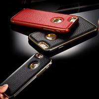 2015 Luxury Genuine Leather Phone Cases for iPhone 6