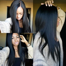 2015 New Product Silk Base Black Women Malaysia Hair Full Lace Wig With Baby Hair