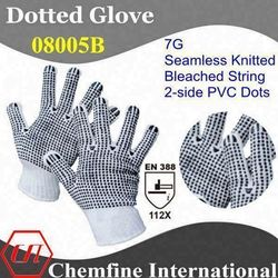 work glove with pvc dot