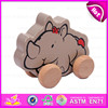 2015 Fashion pull string line toy,Cartoon children wooden pull and push toy,Top Quality Wooden Pull Toy with Promotions W05B078