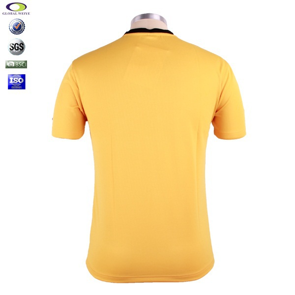 2015 breathable sports yellow golf polo shirt for men for Yellow golf polo shirts