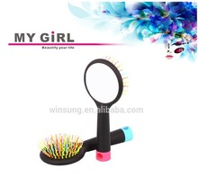 2015 My girl best sale korea human make up the detangling plastic hair brush