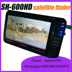 7inch sathero SH-600HD preview screen support HD HDMI 8PSK DVB -S2 digital satellite tv finder Meters