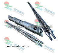 CHINA alloy bimetallic double twin screws and barrels plastic extrusion injection
