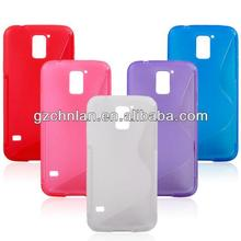 Colorful Anti slip S line TPU Soft back Cover Rubber Skin Case For Samsung Galaxy S5 i9600 SV