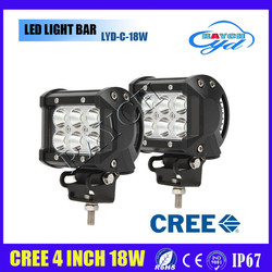 "4"" 9-32v c r e e 18W led light bar for atv,suv,trucks offroad driving light car led light bar"