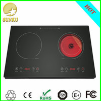 2015 2000W CZC 3500W high power commercial stainless steel built portable induction cooker 2 burner industrial pressure cooker