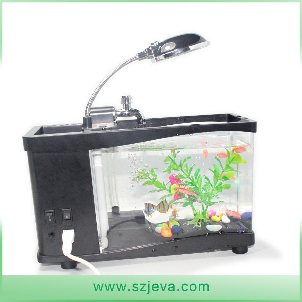 Wholesale aquarium mini fish tank usb desktop aquarium for Buy fish tank