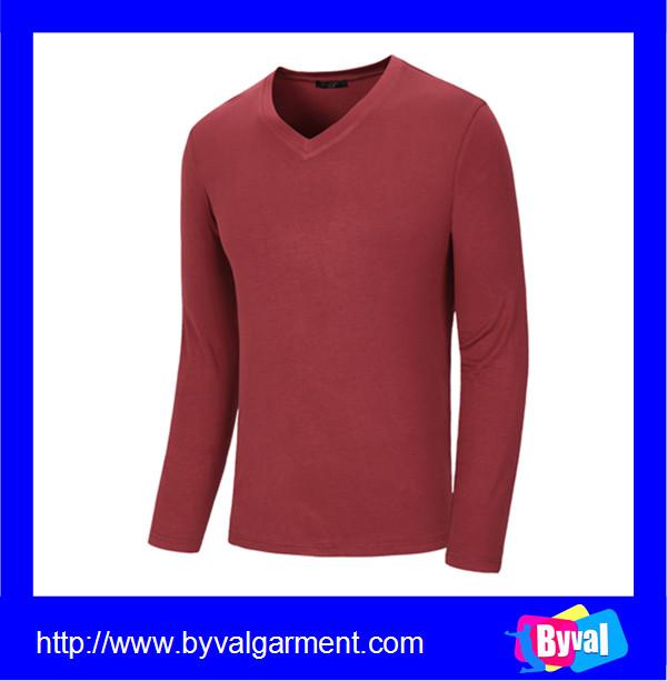Wholesale 100 cotton v neck long sleeve shirts cheap for 100 cotton v neck t shirts wholesale
