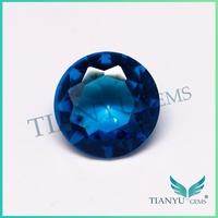 2015 factory sell fashion jewelry Aqua blue glass gemstone for sale in dubai