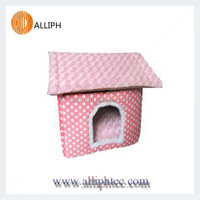 Pink dot printing dog house Pet products