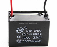 New Capacitor Manufacture CBB61 8uf 5% 450V Capacitors From Shenzhen