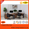 2015 new design L Shaped computer table/wooden executive office furniture desk