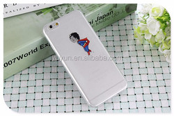 personalized funny superman kiss cell phone case cover for iphone 5/5S/6/6 plus