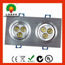 High efficiency 2 pieces recessed led downlight 3W dimmable