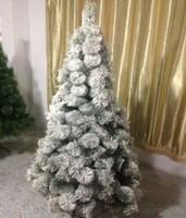 PET pine needle christmas tree with flock