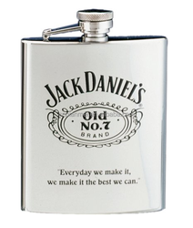7oz Jack Daniel's Stainless Steel Hip Flasks