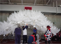 Wedding helium inflatable biodegradable white Dove Balloons for wedding decoration doves shaped bio balloons