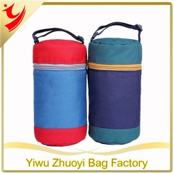600D Polyester Fabric Insulated Kids Lunch Box Cooler Bags with Adjustable Straps