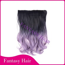 """fish wire hair extensions ombre kanekalon synthetic hair 14"""" 100g ,20"""" 140g"""