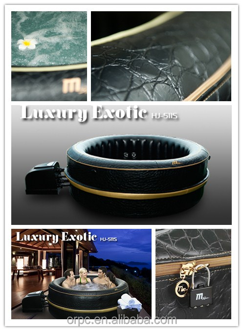 MSpa Luxury Exotic HJ-511S Inflatable Portable Spa, Outdoor Hot Tub,