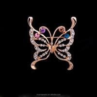 2015 New Butterfly Rhinestone Brooch Pins,Crystal Wedding Brooches for Women Men Corsage Breast Pin Scarf Buckle Broch XZ011