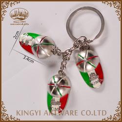 Professional price metal souvenir beautiful key chain
